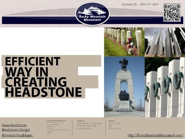 Memorial headstone   efficient ways in creating headstones