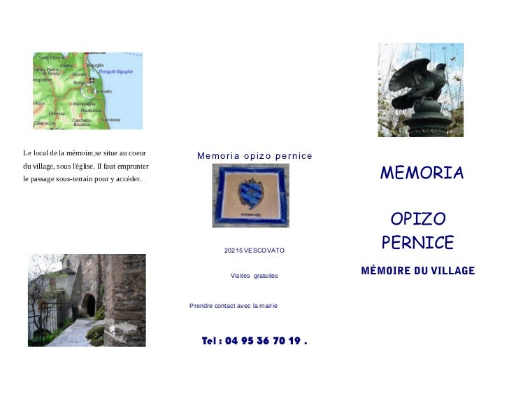 Le local de la mémoire,se situe au coeur         Memoria opizo pernice                                                    ...