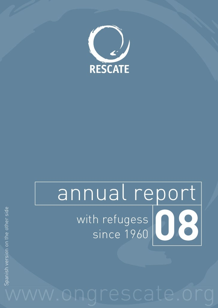 annual report Spanish version on the other side                                          with refugess                    ...