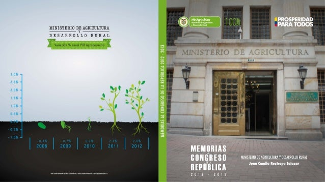 Informe de Agricultura Memorias al congreso 2012-2013