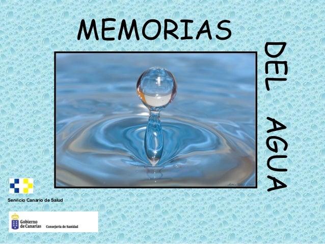 MEMORIAS DELAGUA Servicio Canario de Salud