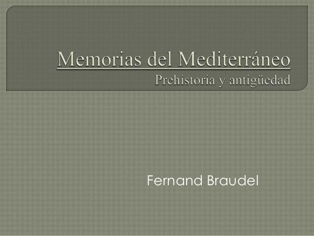 Memorias del mediterráneo