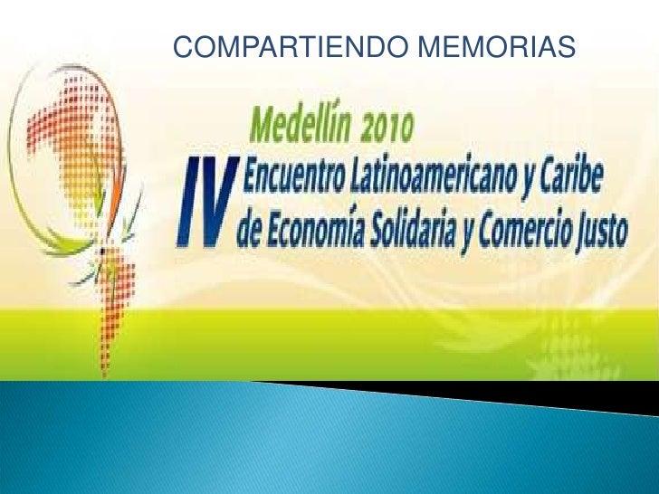 COMPARTIENDO MEMORIAS<br />