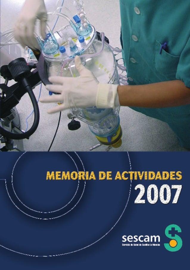Memoria del Servicio de Salud de Castilla-La Mancha (SESCAM) 2007