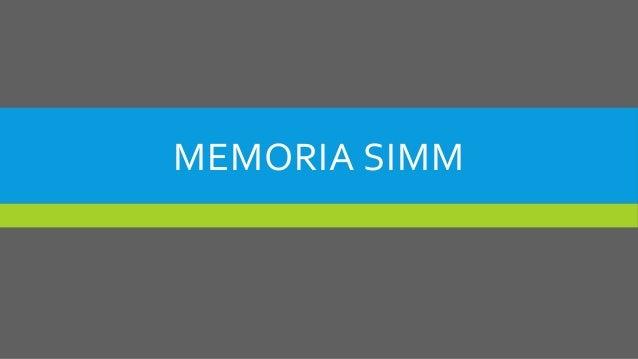 MEMORIA SIMM