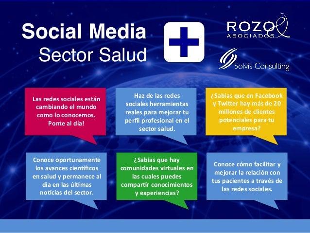 Social Media!Sector Salud! +!¿Sabías que en Facebook y Twi4er hay más de 20 millones de clientes ...