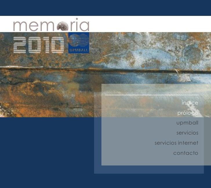 Memoria de UPMBALL 2010