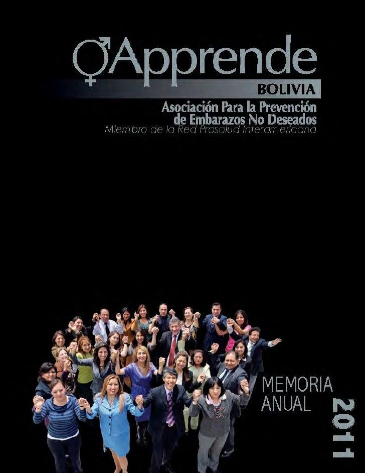 MEMORIA ANUAL APPRENDE    2011
