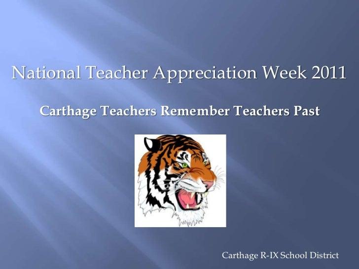 National Teacher Appreciation - Carthage R-9