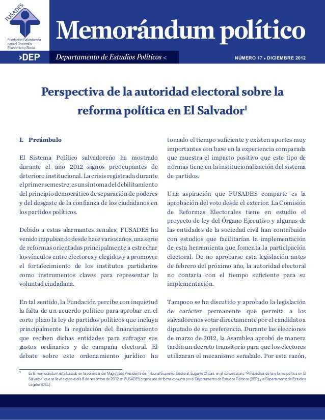 NÚMERO 17 ! DICIEMBRE 2012            Perspectiva de la autoridad electoral sobre la                                    re...