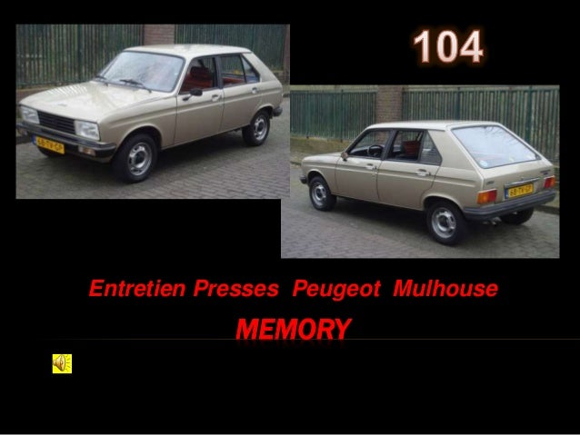 MEMORY Entretien Presses Peugeot Mulhouse