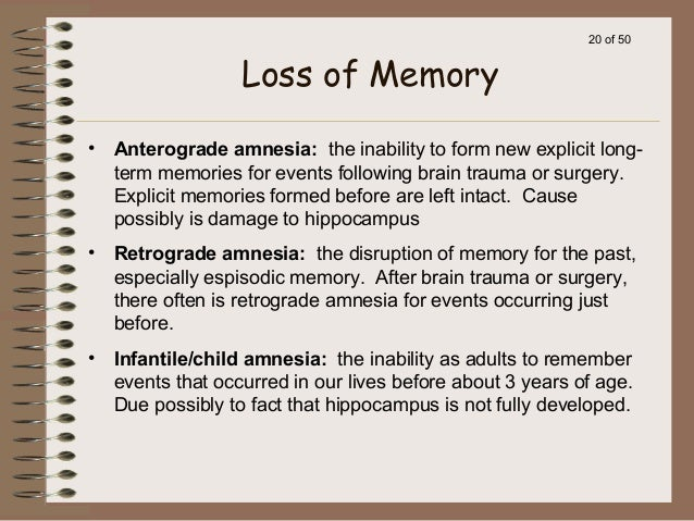 the study of childhood amnesia memory of events that occured before age 3 Childhood amnesia, also called infantile amnesia, is the inability of adults to retrieve episodic memories before the age of 2–4 years, as well as the period before age 10 of which adults retain fewer memories than might otherwise be expected given the passage of time.