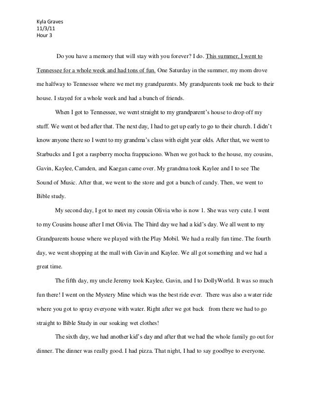 Childhood memories essay