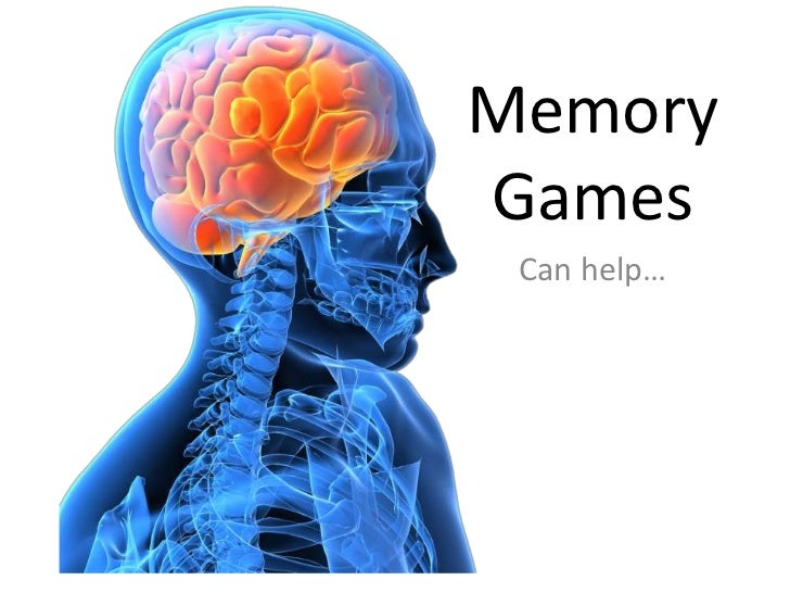 Memory games can help