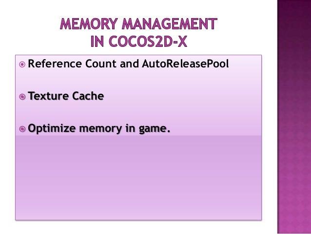 Memory management in cocos2d x - Le Duy Vu