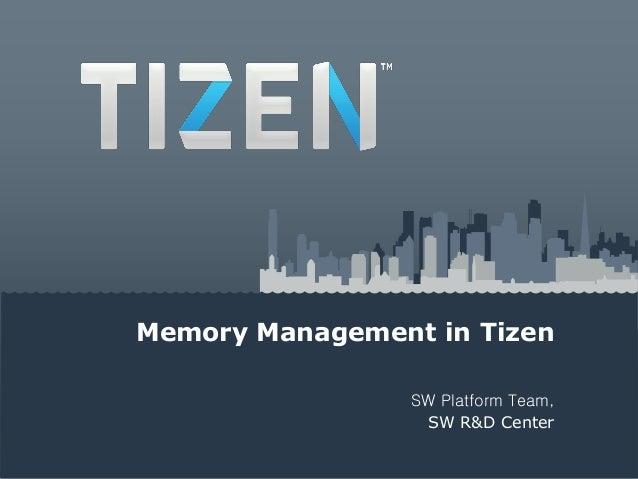 Memory Management in TizenSW Platform Team,SW R&D Center