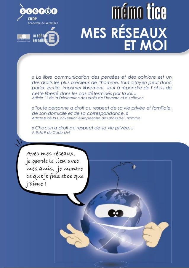 CRDP Académie de Versailles Mes relations sur les réseaux ne sont pas forcément de vrais amis. Tu ou p tes « Avec mes rése...