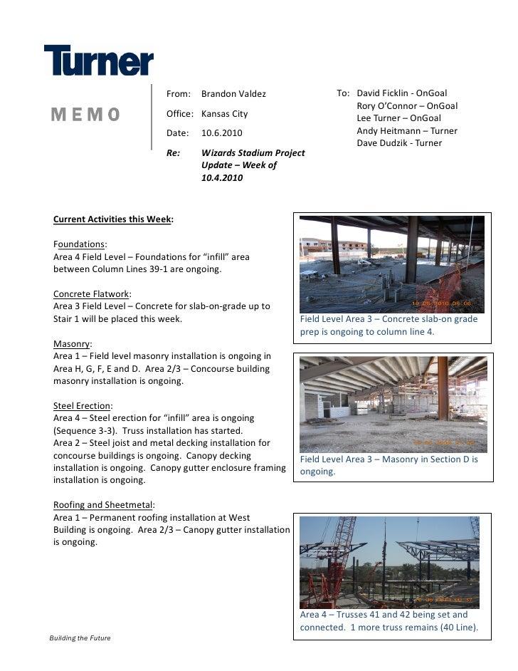Construction Update 10-6-2010