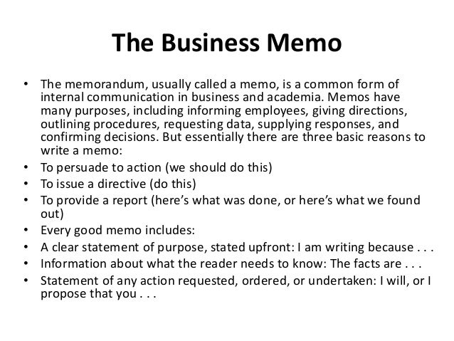 what does a business memo look like