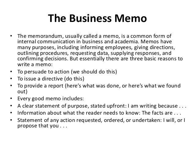 a business memo
