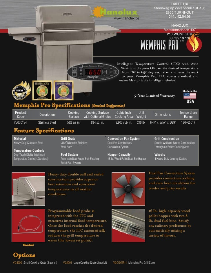 Memphis Pro Pellet barbecue