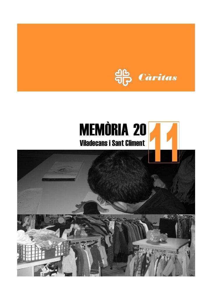 CàritasMEMÒRIA 20Viladecans i Sant Climent