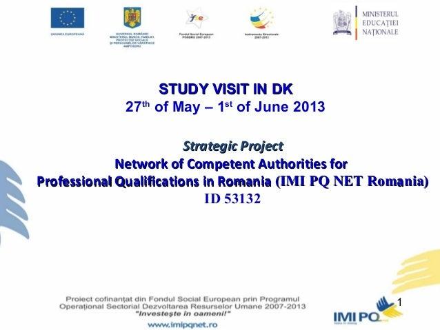 MEN - Project presentation IMI PQ NET Romania