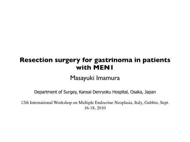 MEN1 gastrinoma resection Imamura