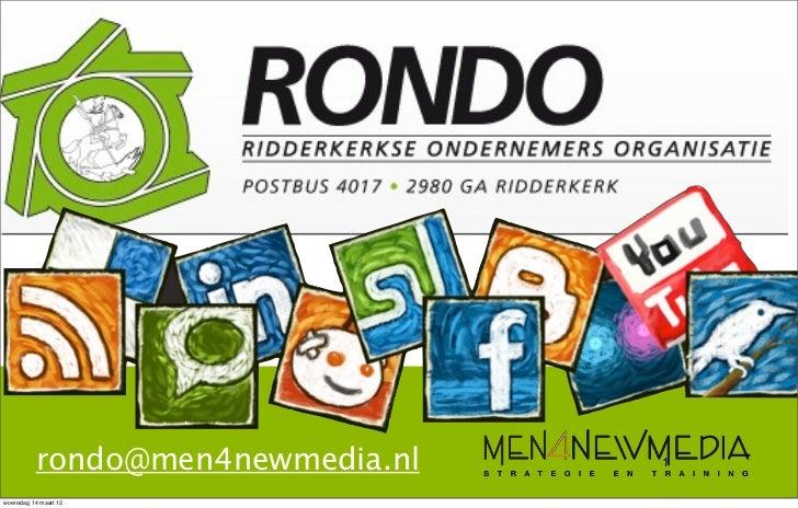 Men4newmedia socialmedia presentatie Rondo Ridderkerk