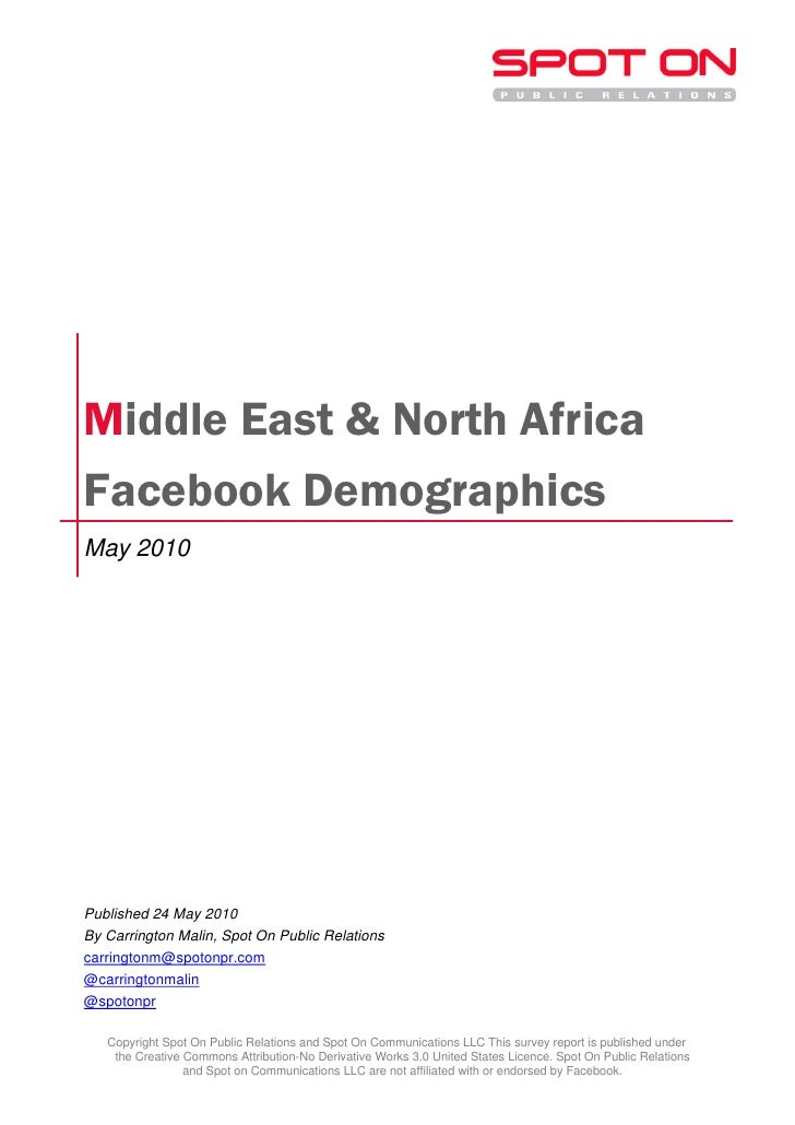 Spot On PR: Middle East & North Africa Facebook Demographics – May 2010