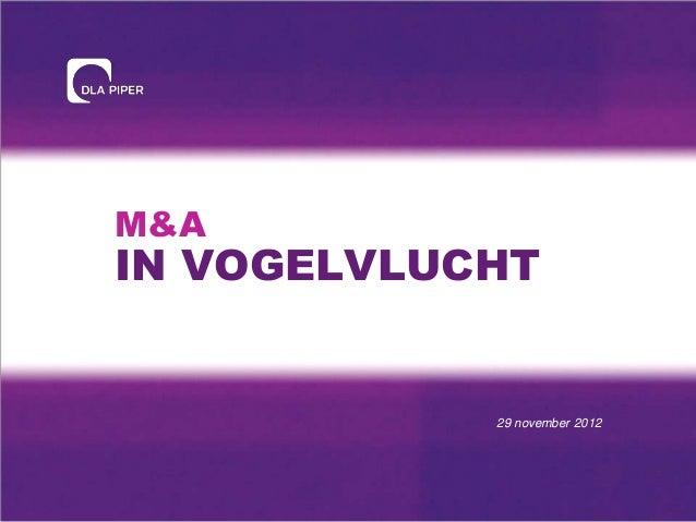 M&A in vogelvlucht 2012