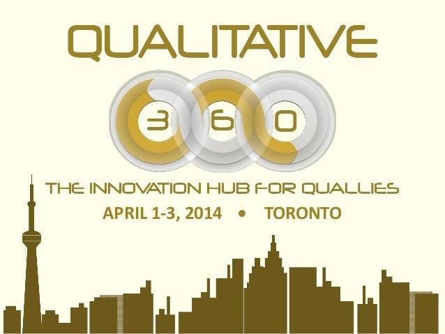 APRIL 1-3, 2014 TORONTO