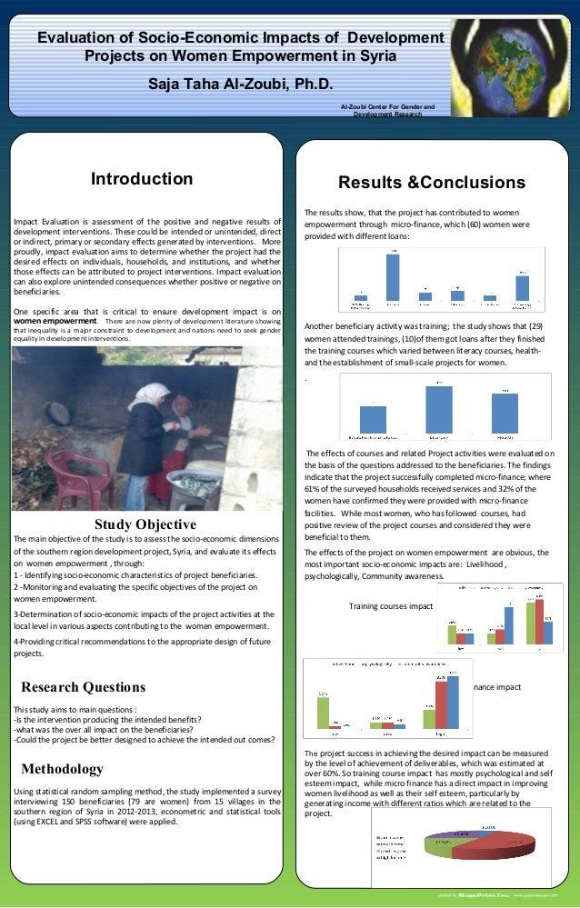 Menarid: Evaluation of Socio-economic Impacts of Development Project on Women Empowerment in Syria