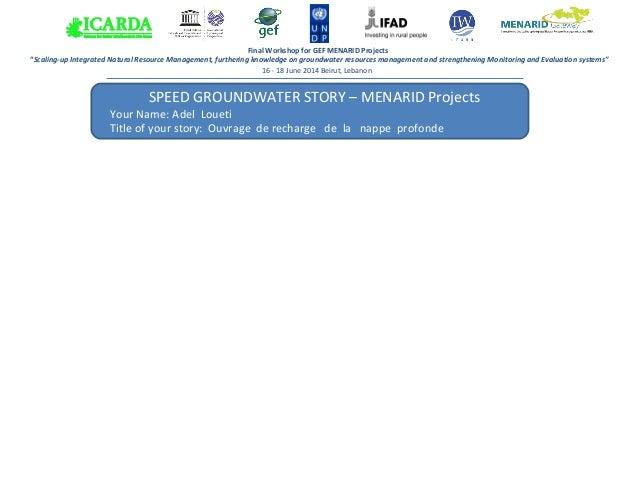 Menarid: Gestion Durable des Terres la Region de Siliana