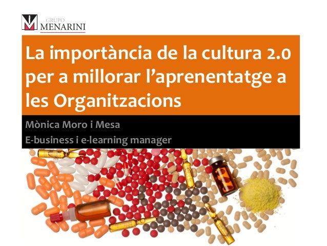 La  importància  de  la  cultura  2.0   per  a  millorar  l'aprenentatge  a   les  Organitzacions...
