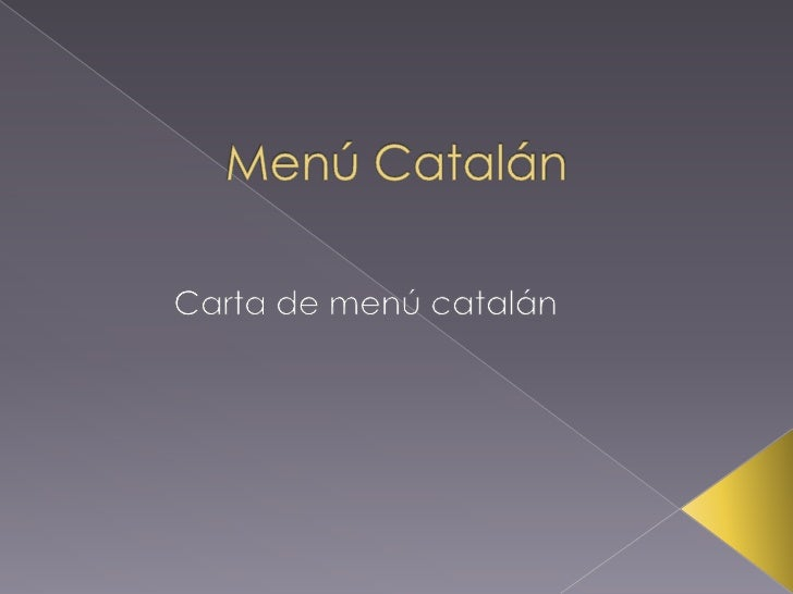 Menú Catalán <br />Carta de menú catalán<br />