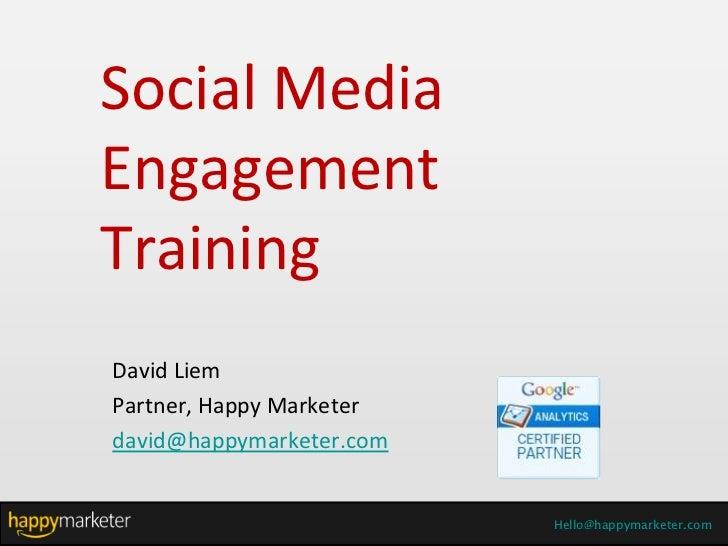 MENDAKI Social Media Training - Day 2, Part 1
