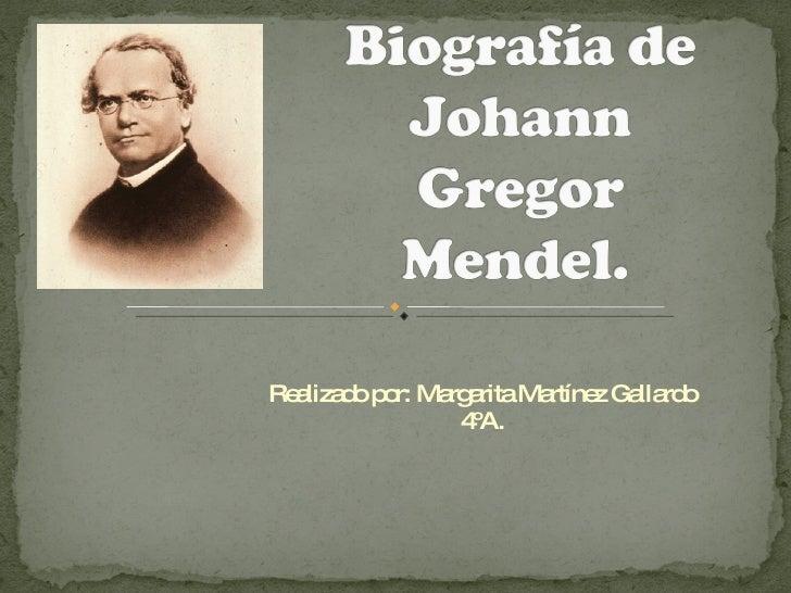 Biografía de Mendel