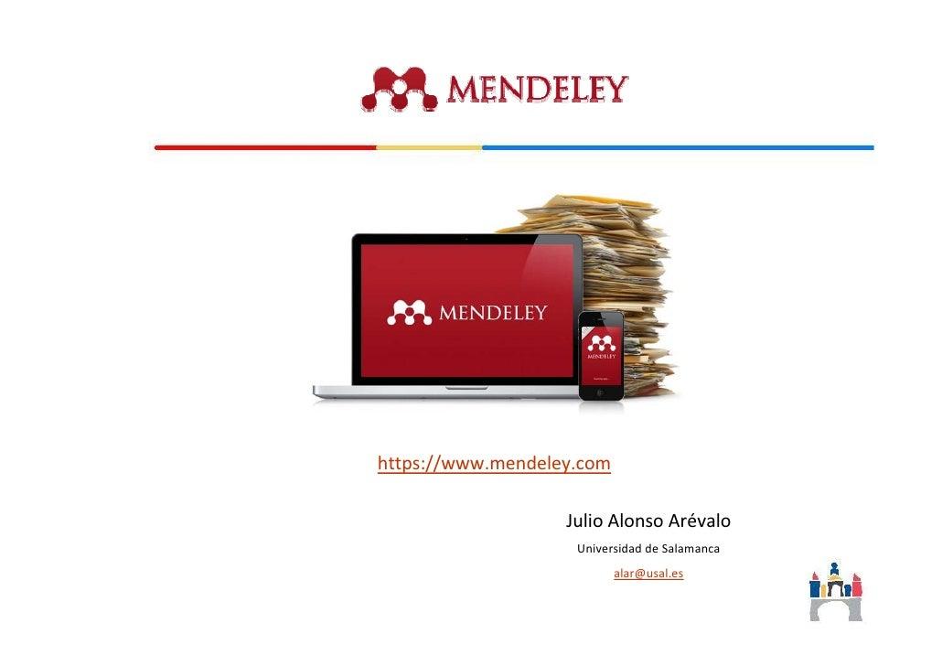 Mendeley: tutorial de aprendizaje
