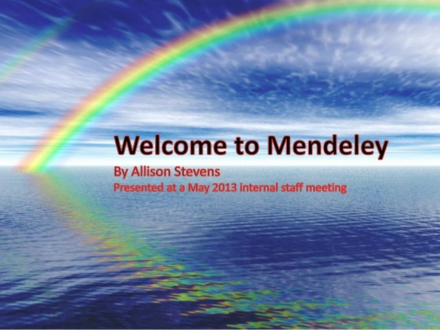 Mendeley is a free reference managerAND social network