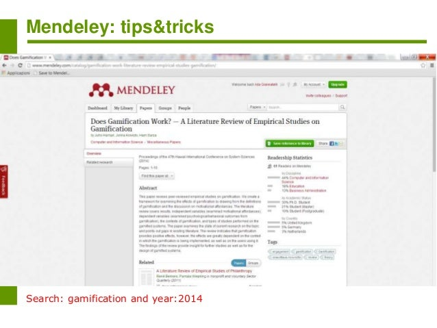 Mendeley search