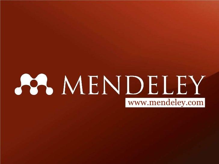 www.mendeley.com<br />