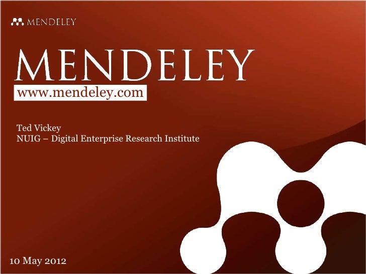 Mendeley training 2012