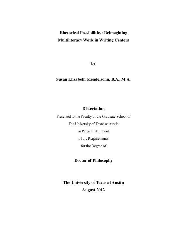 Dissertation pedagogy