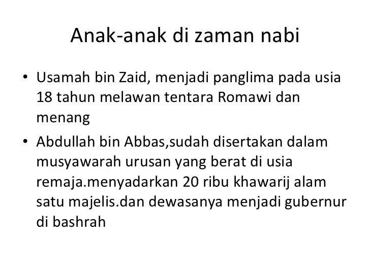 Usamah Bin Zaid Panglima Usamah Bin Zaid