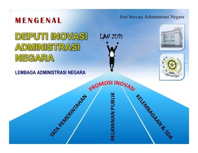 Seri Inovasi Administrasi Negara  PELAYANAN PUBLIK  LAN 2015