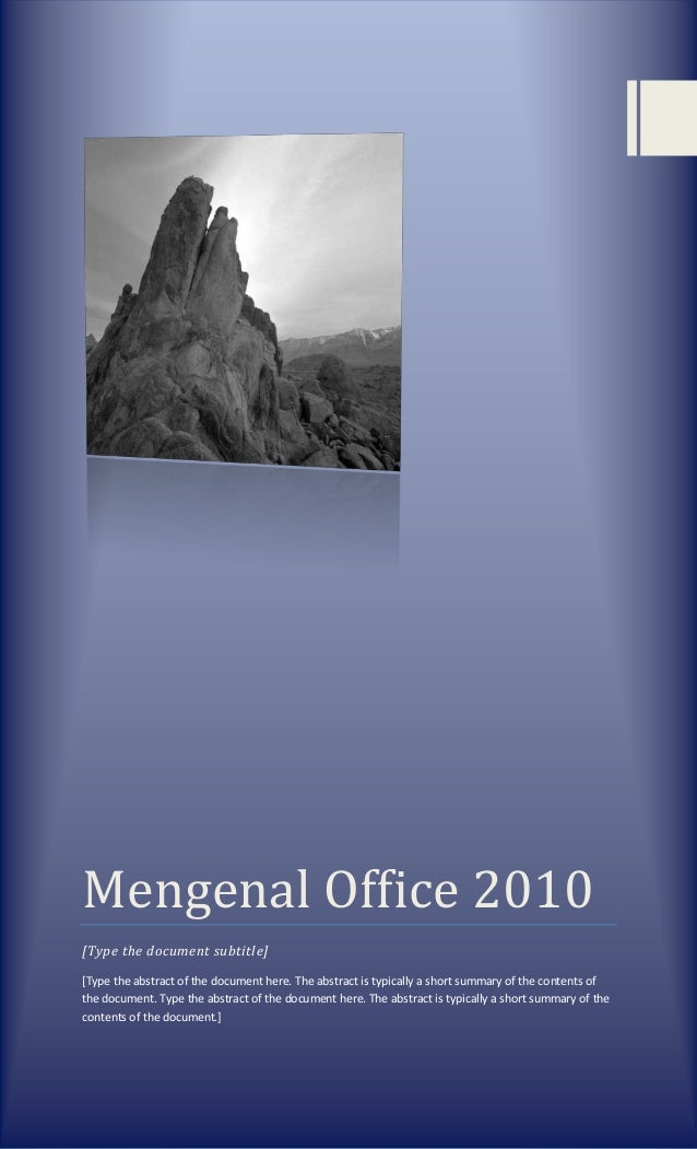 Mengenal office 2010 bab i