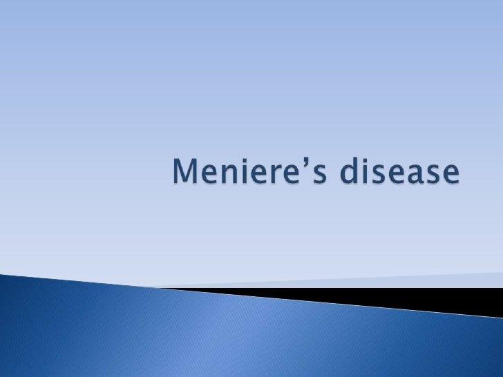 Meniere's disease mine