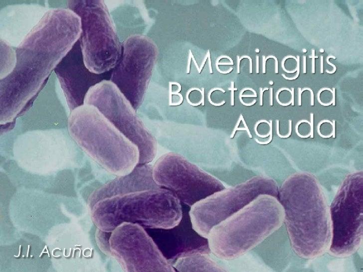 Meningitis Bacteriana (pediatría)