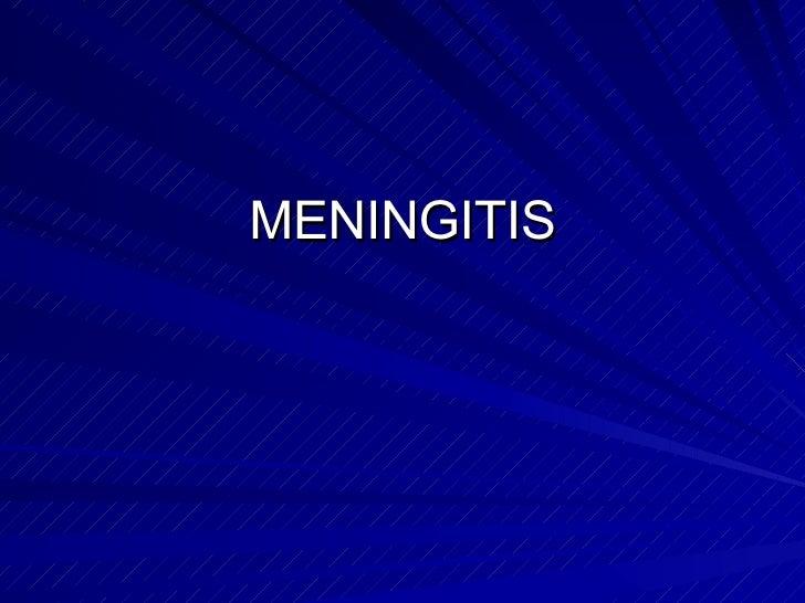 Meningitis en pediatria